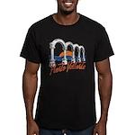Puerto Vallarta Men's Fitted T-Shirt (dark)