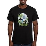 Panda Bears Men's Fitted T-Shirt (dark)