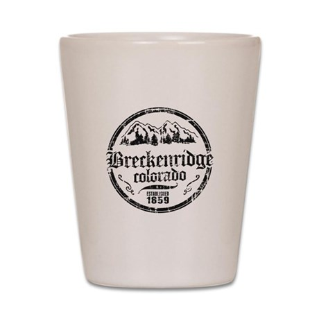 Breckenridge Distressed Circle Shot Glass