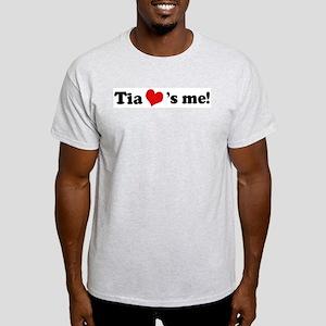 Tia loves me Ash Grey T-Shirt