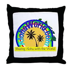 AlohaWorld Logo Throw Pillow