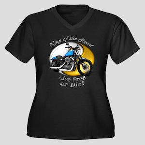 HD Nightster Women's Plus Size V-Neck Dark T-Shirt