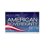 Restore American Sovereignty Rectangle Magnet