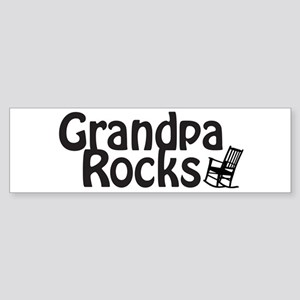 Grandpa Rocks Sticker (Bumper)