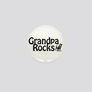 Grandpa Rocks Mini Button