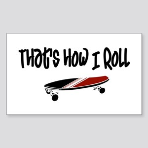 Skateboard Roll Sticker (Rectangle)