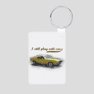 I still play with cars Aluminum Photo Keychain