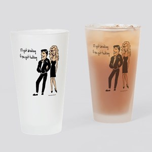 Quit Talking Drinking Glass