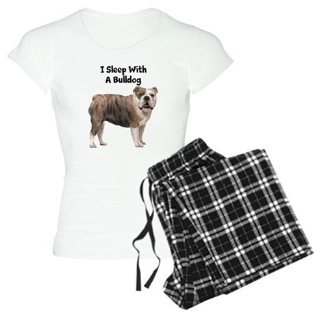 I Sleep With A Bulldog Women's Light Pajamas