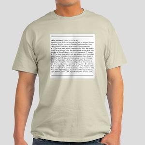 Custody Defined Black Ash Grey T-Shirt