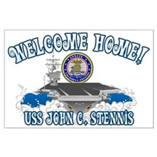 Welcome USS Stennis! Large Poster