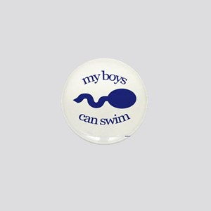 My boys can swim Mini Button