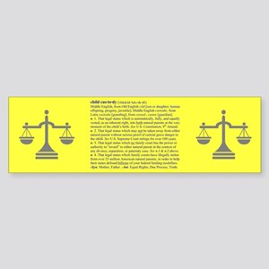 Custody Defined Blue Bumper Sticker