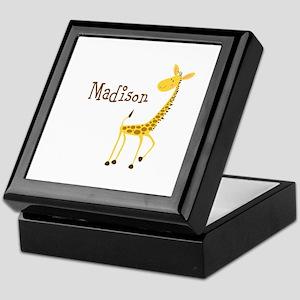 Custom Name Giraffe Keepsake Box