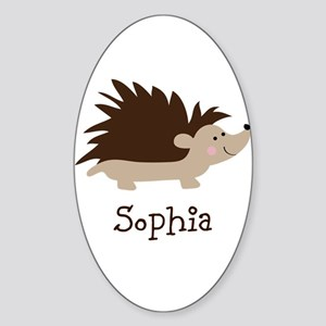 Custom Name Hedgehog Sticker (Oval)