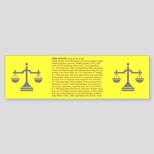Custody Defined Purple Bumper Sticker