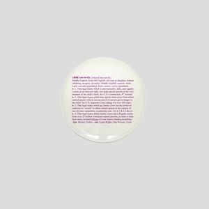 Custody Defined Purple Mini Button