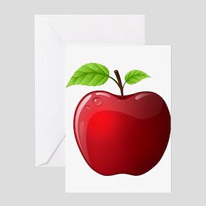 Apple green greeting cards cafepress teachers apple greeting card m4hsunfo