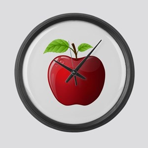 Teachers Apple Large Wall Clock