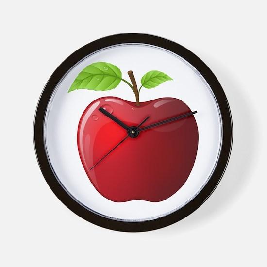 Teachers Apple Wall Clock