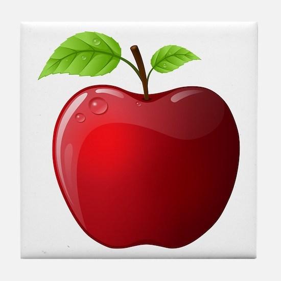 Teachers Apple Tile Coaster