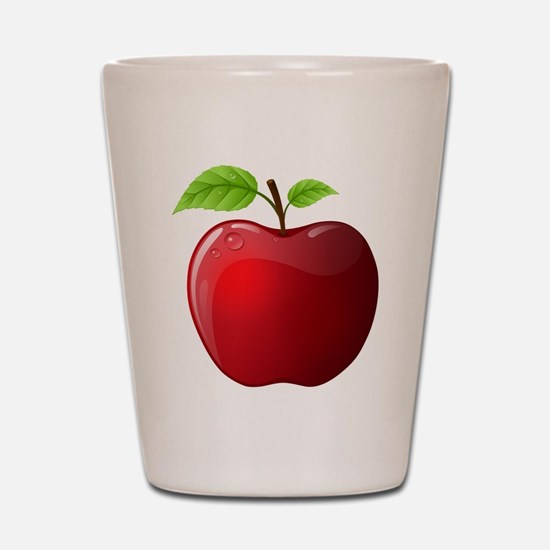 Teachers Apple Shot Glass