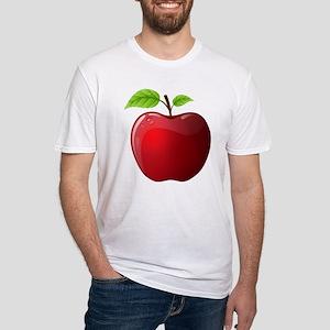 Teachers Apple Fitted T-Shirt