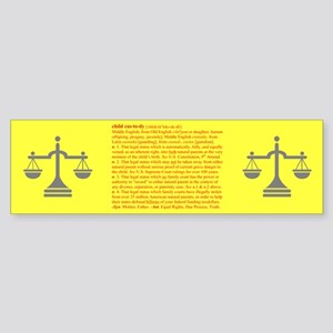 Custody Defined Red Bumper Sticker
