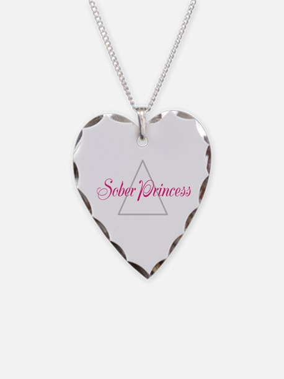 Sober Princess Necklace Heart Charm