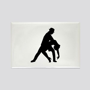 Dancing couple tango Rectangle Magnet