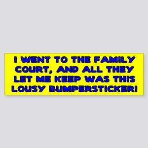 Lousy Court Blue Bumper Sticker