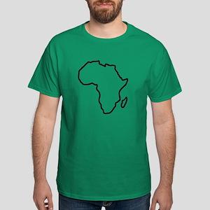 Africa map Dark T-Shirt
