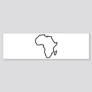 Africa map Sticker (Bumper)