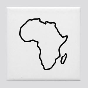 Africa map Tile Coaster
