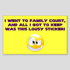 Lousy Court Purple Rectangle Sticker
