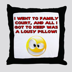 Lousy Court Red Throw Pillow