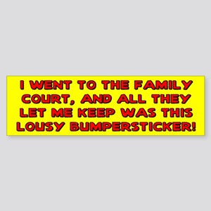 Lousy Court Red Bumper Sticker