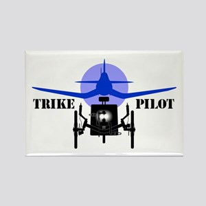 Trike Pilot Rectangle Magnet