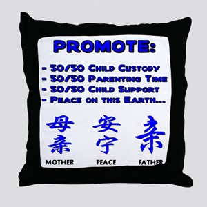 Promote 50/50 Oriental Blue Throw Pillow