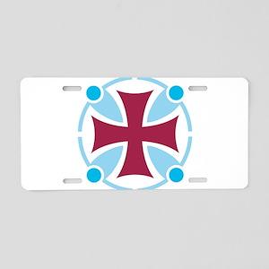 Templar Cross Aluminum License Plate