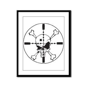 Crosshairs Framed Panel Print
