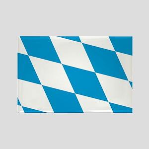 Flag of Bavaria Rectangle Magnet