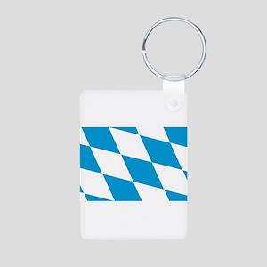 Flag of Bavaria Aluminum Photo Keychain