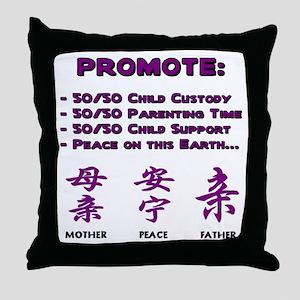 Promote 50/50 Oriental Purple Throw Pillow