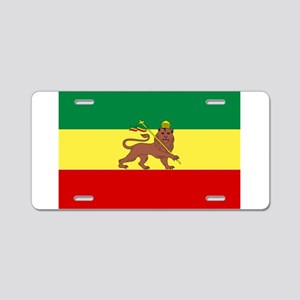 Lion of Judah Ethopian Flag Aluminum License Plate