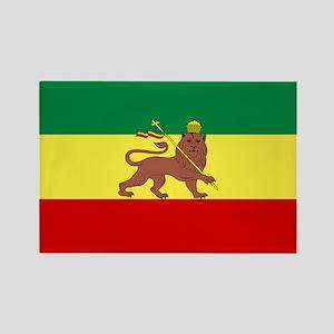 Lion of Judah Ethopian Flag Rectangle Magnet