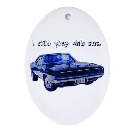 I still play with cars Ornament (Oval)