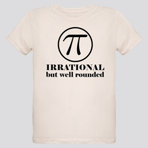 Pi: Irrational But Well Rounded Organic Kids T-Shi