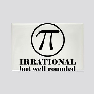 Pi: Irrational But Well Rounded Rectangle Magnet