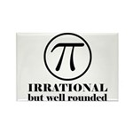 Pi: Irrational But Well Rounded Rectangle Magnet (